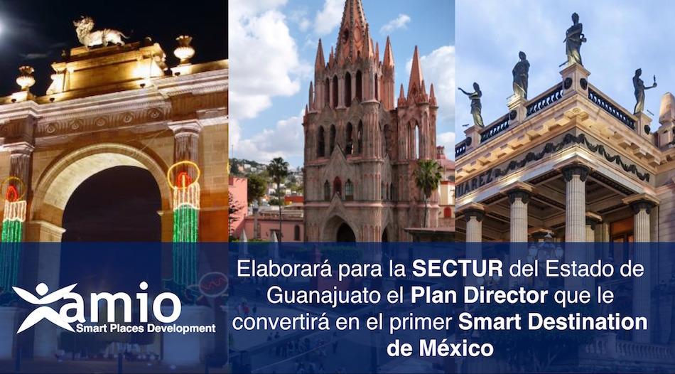 Guanajuato, smart destination, primer destino turistico inteligente de mexico, dti, amio, amio ingenieros, méxico 2