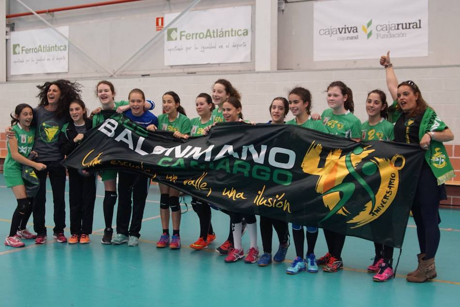Amio Camargo, Bm Camargo, Campeones copa cantabria, alevin femenino, amio, 5