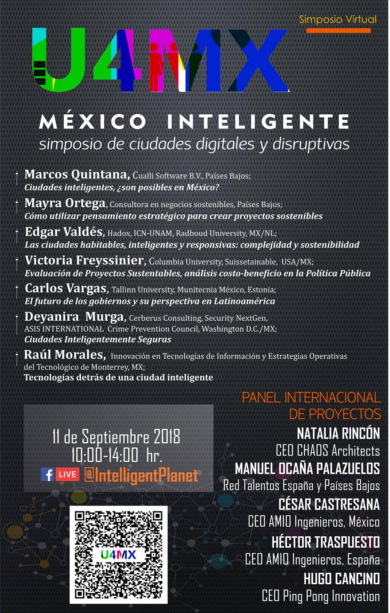 programa Simposio Virtual México Inteligente, amio ingenieros, leon municipio humano inteligente, guanajuato destino turístico inteligente
