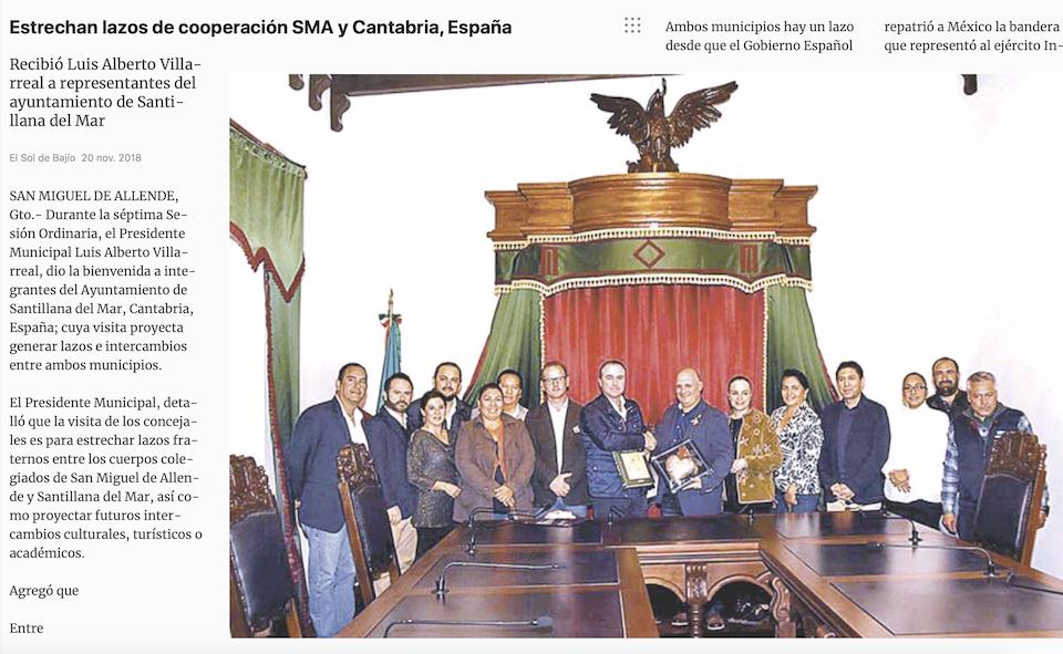 repercusion prensa, visita santillana del mar, san migue de allende, amigo ingenieros, dti, 4